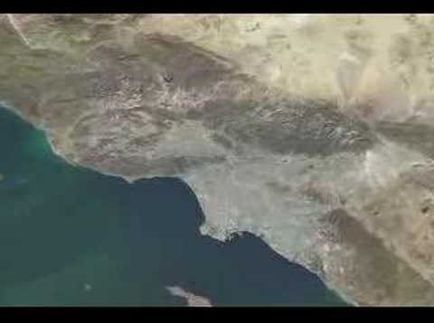 Amazing zoom of hollywood sign from the space....