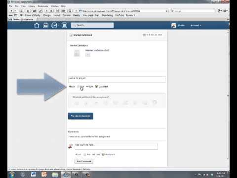 Edmodo - Turning in an assignment