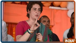 Lok Sabha Elections 2019: Priyanka Gandhi takes on PM Modi in Fatehpur rally - INDIATV