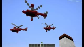 Как сделать вертолёт майнкрафт