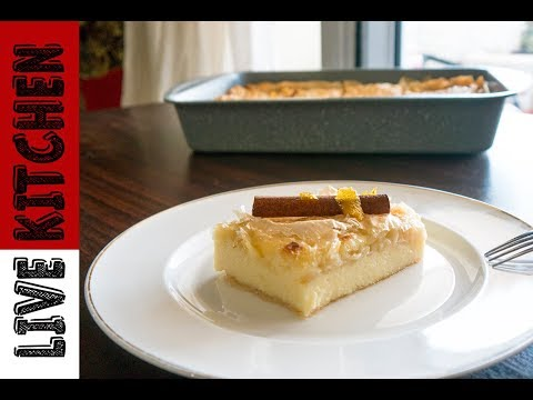 Galaktompoureko The Best Vanilla Pudding Phyllo Pastry Live Kitchen