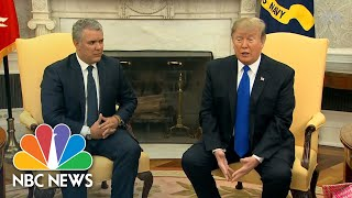 President Donald Trump Slams Venezuela's Refusal Of Food, Humanitarian Aid | NBC News - NBCNEWS