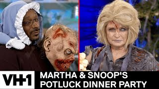 Martha Stewart Brings A Corpse To The Kitchen 'Sneak Peek' | Martha & Snoop's Potluck Dinner Party - VH1