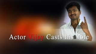 Actor Vijay Casted his Vote