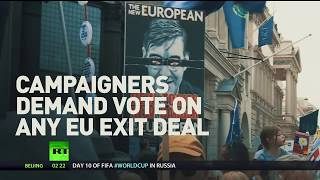 Final vote: Thousands march in anti-Brexit rally on 2nd anniversary of referendum - RUSSIATODAY
