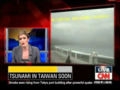 Breaking news- 8.9 Earthquake  Tsunami hits Japan! Watch CNN live coverage 2011  03 11
