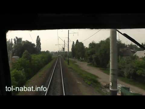 [HD] Сходня - Москва из кабины электровоза ЧС2