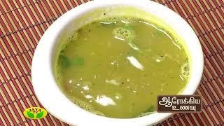 Aarokiya Unavu 12-09-2017 – Jaya TV cookery Show -Mudakathan Keerai Soup & Mudakathan Keerai Manathakkali Vathal Kulambu
