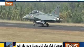Army Chief Bipin Rawat Flies In The Indigenous Light Combat Aircraft - Tejas In Bengaluru - INDIATV