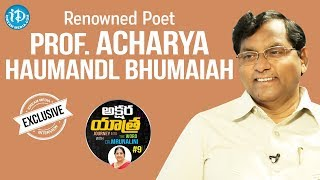 Renowned Poet Prof A Bhumaiah Interview Full Interview || Akshara Yatra With Mrunalini #9 - IDREAMMOVIES