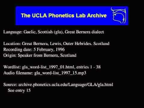 Gaelic, Scottish audio: gla_word-list_1997_15