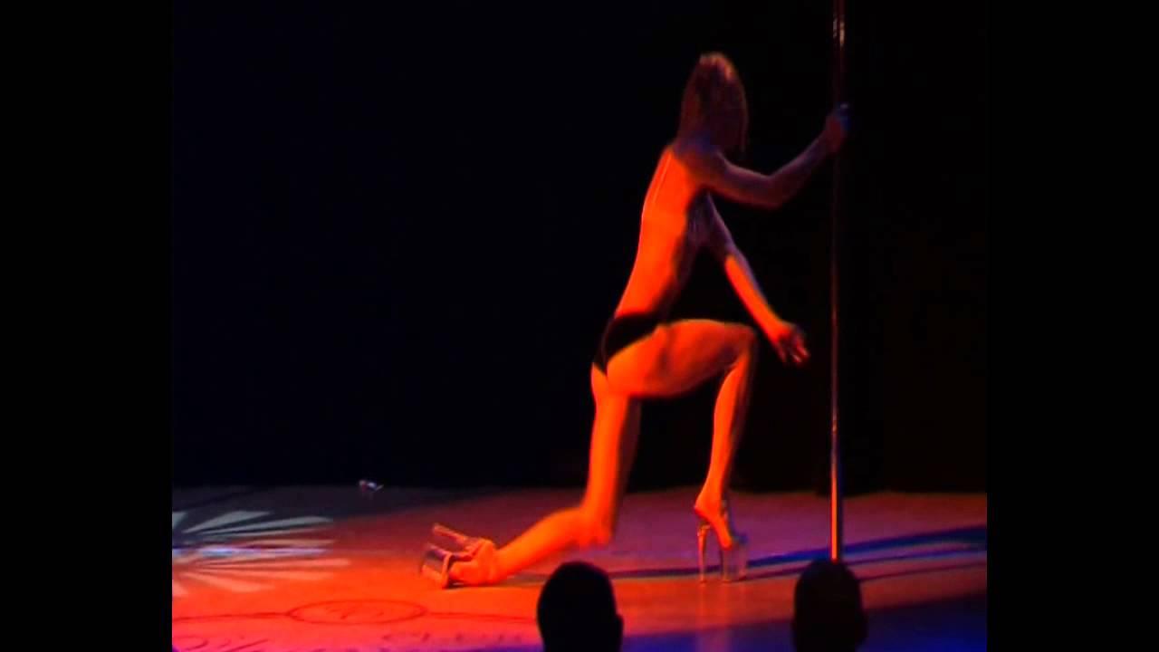 """Видео """"Отчетный концерт Pole Dance (танец на пилоне) 20.01.2013 года в клубе Олимпия"""". Марина Григорьева"""