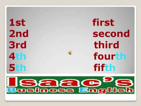 English lesson ORDINAL NUMBERS clases de Ingles