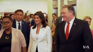 Pompeo, Haley Call for Strict Enforcement of Sanctions on North Korea - VOAVIDEO