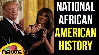 Trump and First Lady Melania Trump Host a National African American History Month Reception. - MANGONEWS