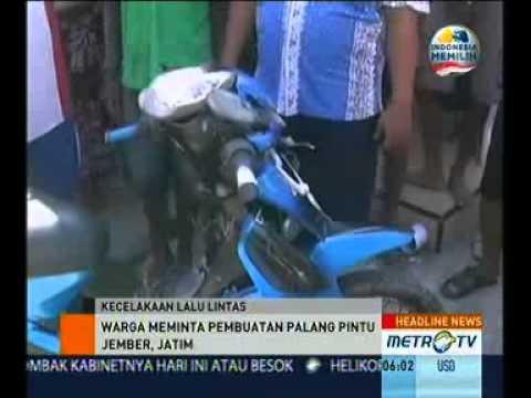 KA Sri Tanjung Tabrak Motor Pasutri di Jember