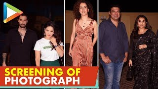 SPOTTED: Vidya Balan, Sanya Malhotra, Tamannaah Bhatia & others @Screening Of Film 'Photograph' - HUNGAMA