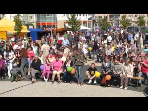 Oslavy 10. výročia vstupu SR do EÚ na námestí v Senici
