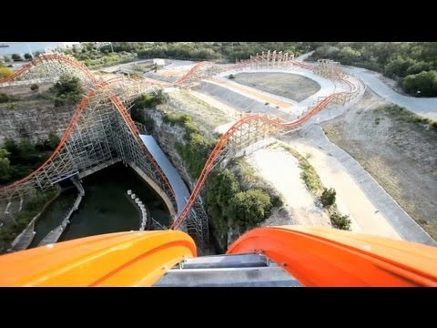 Iron Rattler REAL POV Six Flags Fiesta Texas Roller Coaster Rider Cam Off-Ride