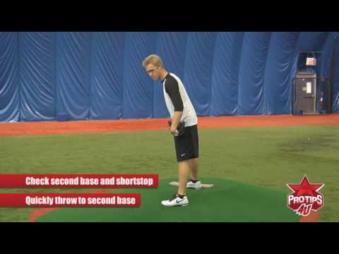 Pitching Tips: How To Pick Off Second Base with Mike Foltynewicz