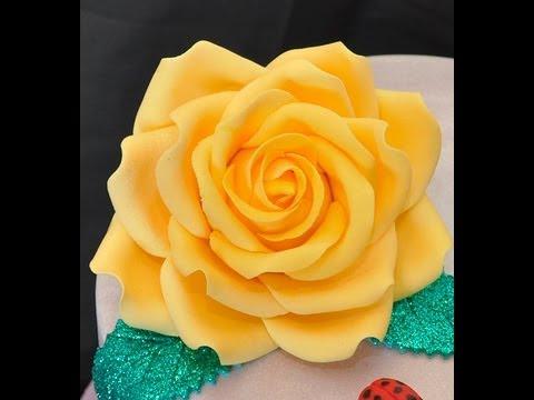 Fiori in pasta di zucchero , Fondant Rose Sugar Flower