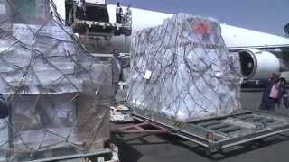بالفيديو..وصول طائرة ثانية إلى اليمن محملة بالمساعدات الطبية