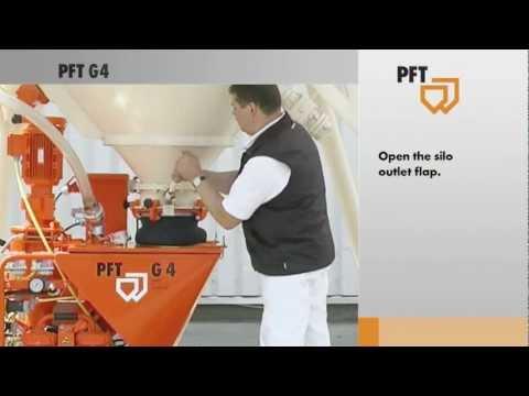 MAQUINA DE PROJETAR GESSO PFT G4 - COM SILO