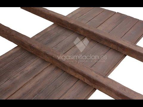 vigas imitacion a madera economicas