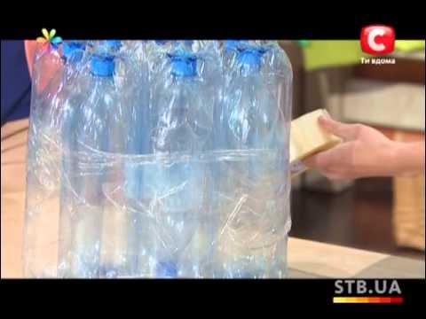 Пуфик своими руками из пластиковых бутылок