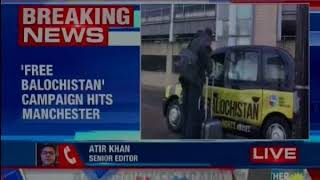 UK: WBO launches campaign in Manchester with taxis carrying adverts with slogan 'Free Balochistan' - NEWSXLIVE