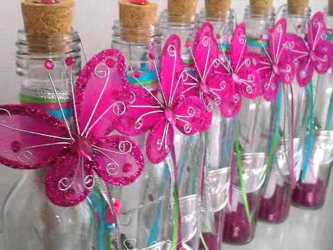 Invitación en botella para quinceañera