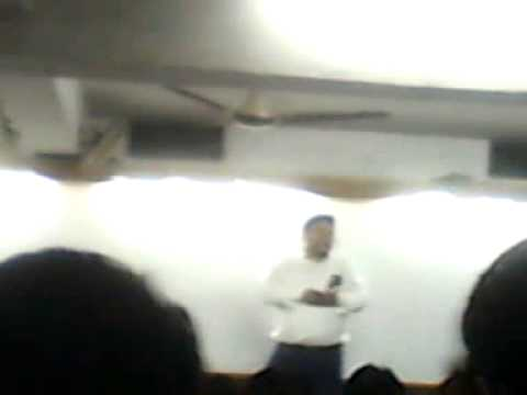 Kumud ranjan sir in organic class saying some inspirational speech to last target batch on 26-02-13