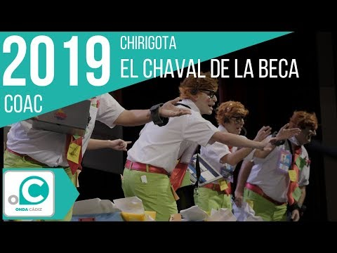 Sesión de Preliminares, la agrupación El chaval de la beca actúa hoy en la modalidad de Chirigotas.
