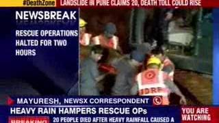 Heavy rains hamper rescue operation in Pune - NEWSXLIVE