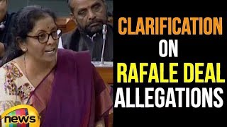 Smt Nirmala Sitharaman Give Clarification on Rafale Deal Allegations Raised by Congress | Mango News - MANGONEWS