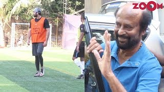 Ranbir Kapoor & others play football | Rajinikanth in Mumbai for a shoot & more - ZOOMDEKHO
