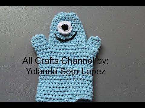 #guante de #baño para #bebe en #Crochet