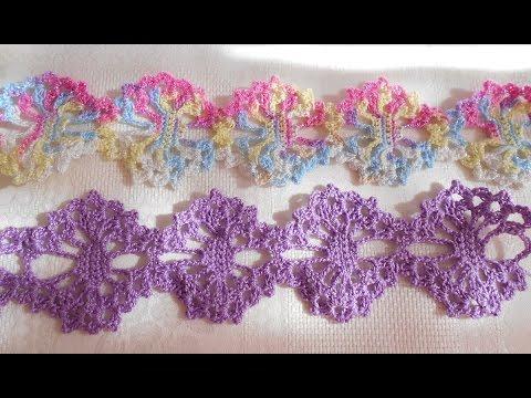 En crochet o ganchillo tiara - diademas- vincha -  para bebe paso a paso