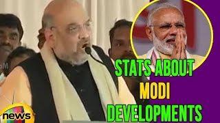 BJP Leader Amit Shah Speech in Public Meeting In karnataka, Stats About Modi Developments - MANGONEWS