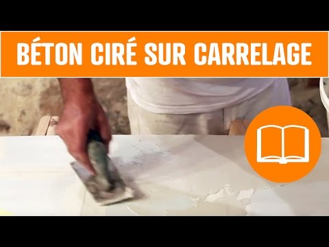 Related video for Beton mineral sur carrelage