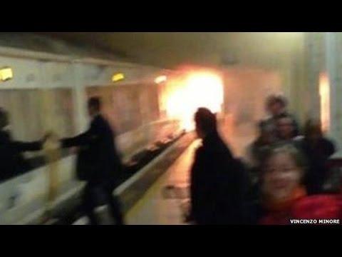 Incendio en una estación de tren de Londres