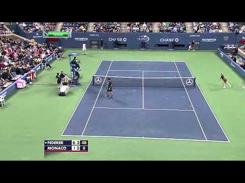 US Open 2011 Federer Monaco highlights