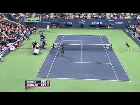 US Open 2011 Federer Monaco highlights