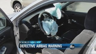 WEBCAST: NHTSA Urges Drivers to Have Their Airbags Checked - ABCNEWS