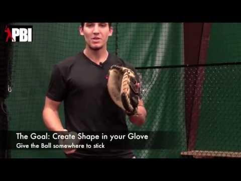 How to break in a catchers mitt | Washington Nationals catcher Cole Leonida