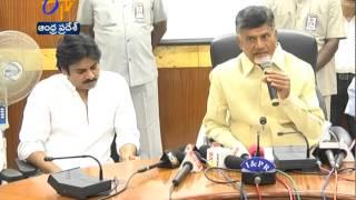 Chandrababu Congratulates Pawan Kalyan for Taking Initiative Of Helping Cyclone Hit Vizag - ETV2INDIA