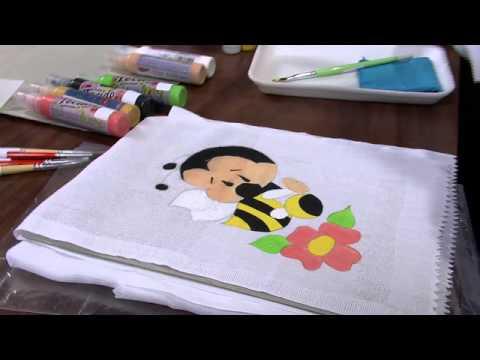 Mulher.com 24/05/2013 Sylvia Regina - Pintura em fralda Parte  1/2