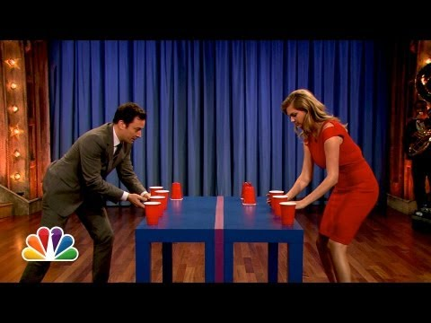 Kate Upton Beats Jimmy Fallon At Flip Cup