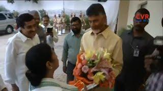 West Bengal CM Mamata Banerjee meets CM Chandrababu Naidu at AP Bhavan in Delhi | CVR News - CVRNEWSOFFICIAL