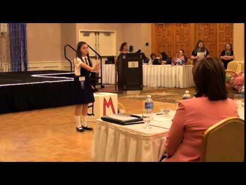 Sydney C at2014 Miss New England Pageant Preteen talent